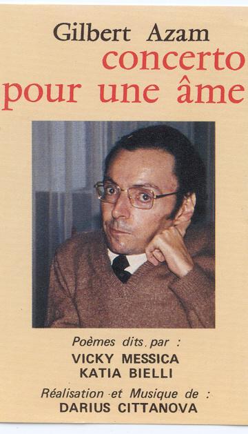 """Couverture de l'œuvre de Gilbert Azam, """"Concerto pour une âme""""."""